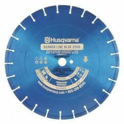 "Husqvarna 36"" Standard Blue 200B Banner Line  Hard Concrete Wet Saw Blade-542751042"