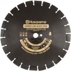 """Husqvarna 24"""" Standard Black 500B-R Banner Line  Asphalt Wet Saw Blade-542751081"""