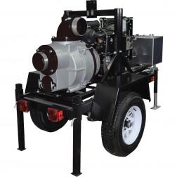 Koshin KTH-150 6in Trash Pump on Trailer