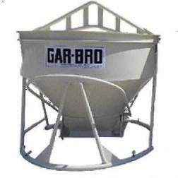 "5 Cu Yard Lightweight Low-profile Bucket 4136-LP W/ 15""X 22"" Gate by Gar-Bro"