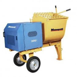Menegotti  200L 7 cu ft Mortar Mixer without engine