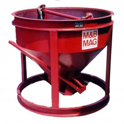 1 Yard Steel Concrete Bucket SBB-10 by M&B Mag