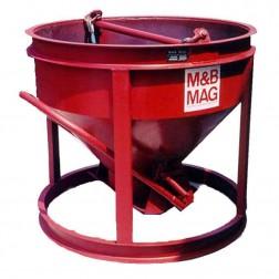 4 Yard Steel Concrete Bucket SBB-40-FB by M&B Mag