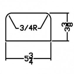 Miller PFD-0002 Curb Form for MC 350 Landscape Curb Machine