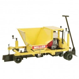 "Miller MC750 5"" Twin Solid Augers 14HP Commercial Concrete Curbing Machine"