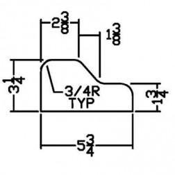 Miller PFD-0003 Curb Form for MC 350 Landscape Curb Machine
