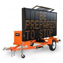 National Signal Sunray 345 255W Solar Powered LED Portable Sign-SR345