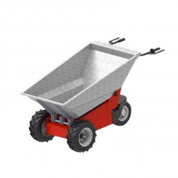 Galvanized Steel Tub Attachment for Power Pusher E-750 Electric Wheelbarrow by NuStar