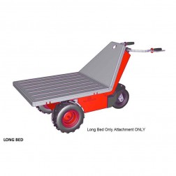 Long Flat Bed Attachment for Power Pusher E-750 Electric Wheelbarrow by NuStar