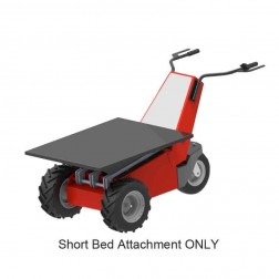 Short Flat Bed Attachment for Power Pusher E-750 Electric Wheelbarrow by NuStar