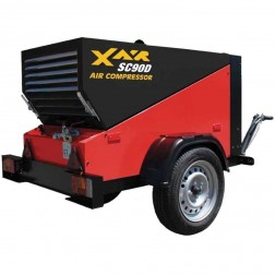 90 CFM Trailer Air Compressor SC90DT by Con X Equipment