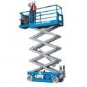 Genie GS-2632 Electric Scissor Lifts (folding rails with half height swing gate)
