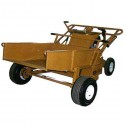 ASE Hydraulic Stand-On Power Buggy with Hydraulic Dump
