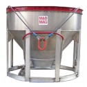 3 Yard Aluminum Concrete Bucket BB-30 by M&B Mag