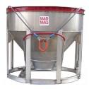 3/4 Yard Aluminum Concrete Bucket BB-7 by M&B Mag